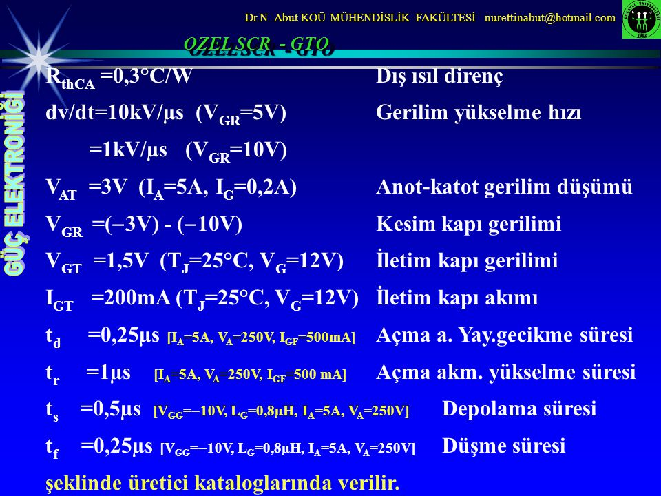 RthCA =0,3°C/W Dış ısıl direnç