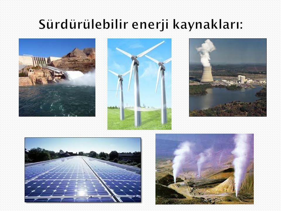 Sürdürülebilir enerji kaynakları: