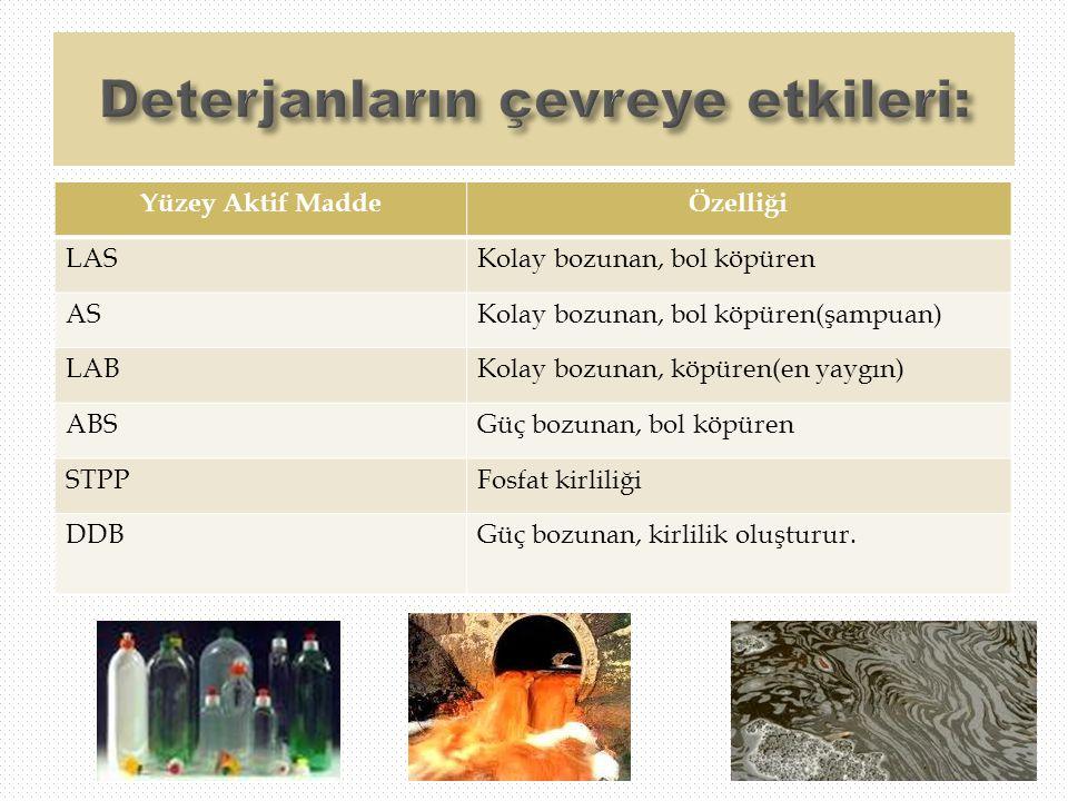 Deterjanların çevreye etkileri: