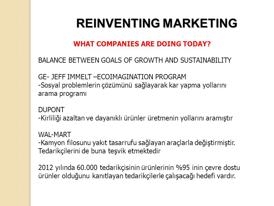 REINVENTING MARKETING WHAT COMPANIES ARE DOING TODAY