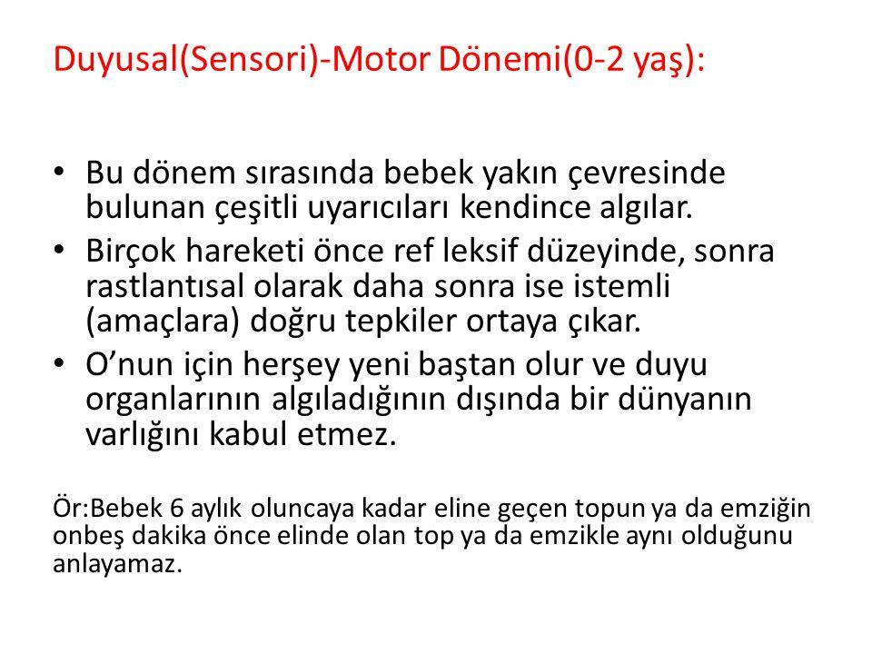 Duyusal(Sensori)-Motor Dönemi(0-2 yaş):