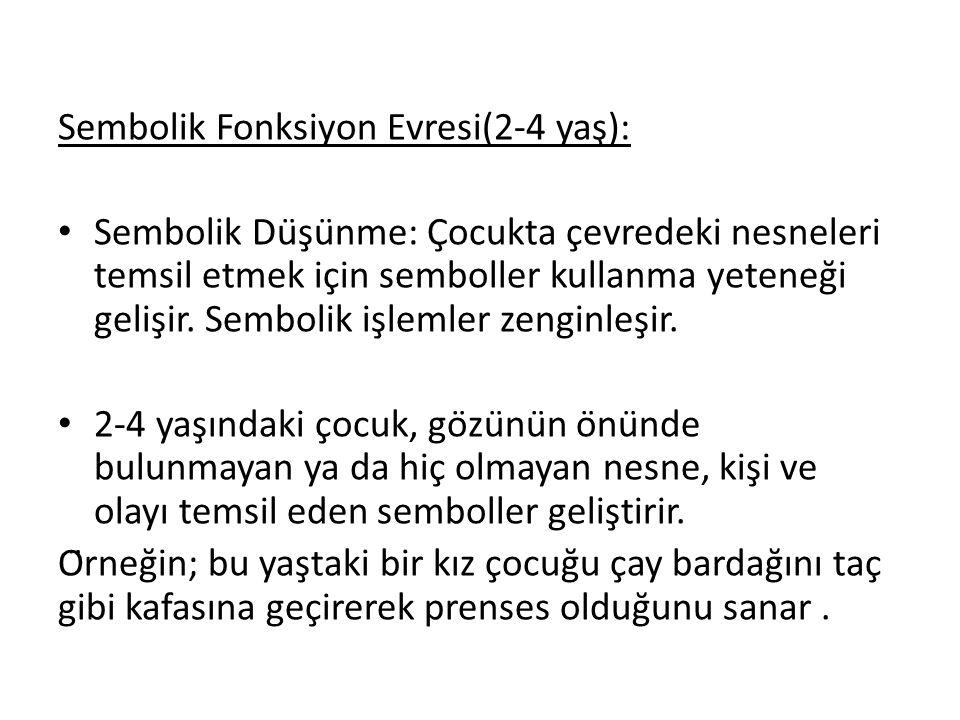 Sembolik Fonksiyon Evresi(2-4 yaş):