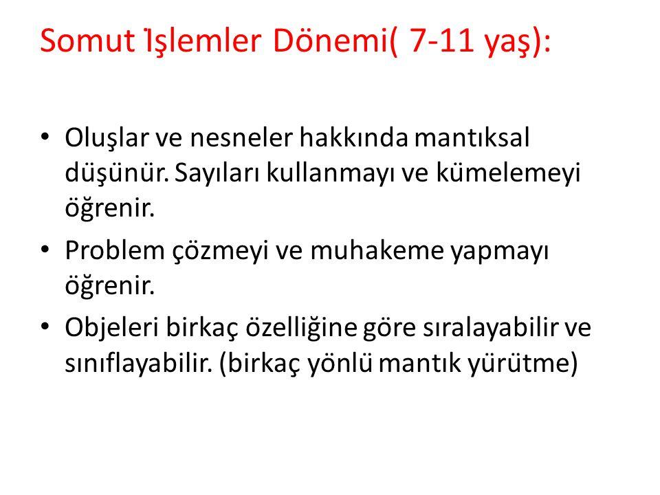 Somut İşlemler Dönemi( 7-11 yaş):