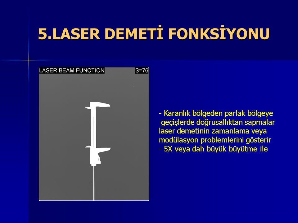 5.LASER DEMETİ FONKSİYONU