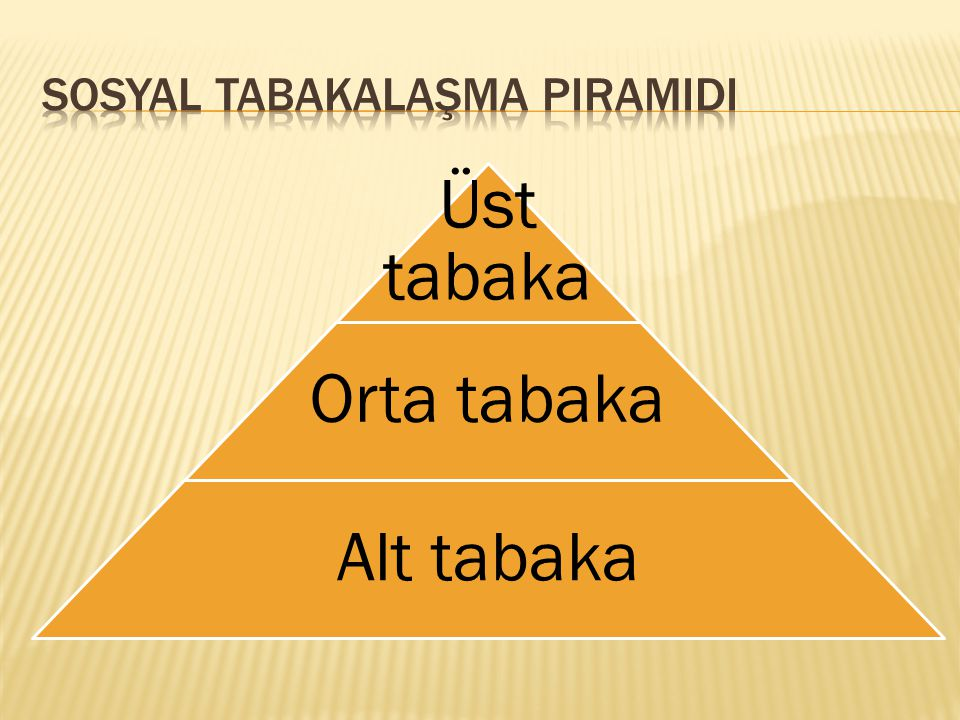 Sosyal Tabakalaşma Piramidi