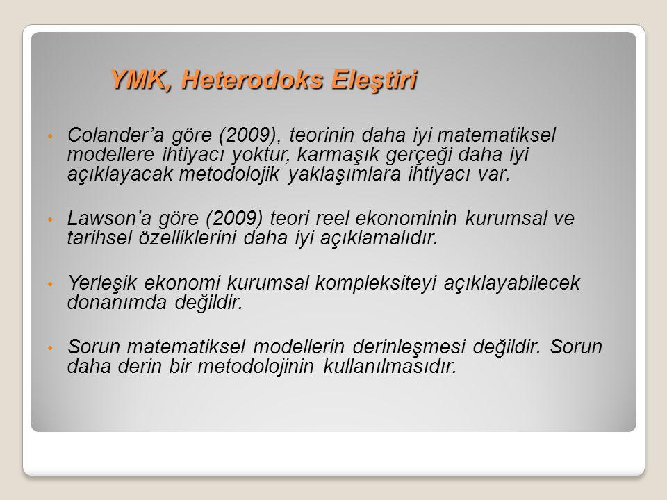 YMK, Heterodoks Eleştiri