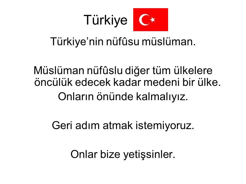 Türkiye Türkiye'nin nüfûsu müslüman.