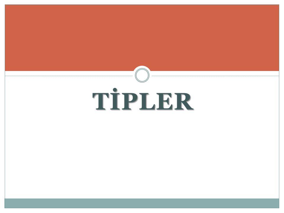 TİPLER