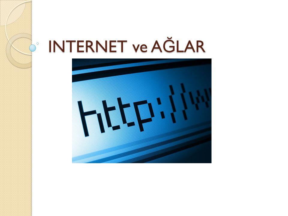 INTERNET ve AĞLAR
