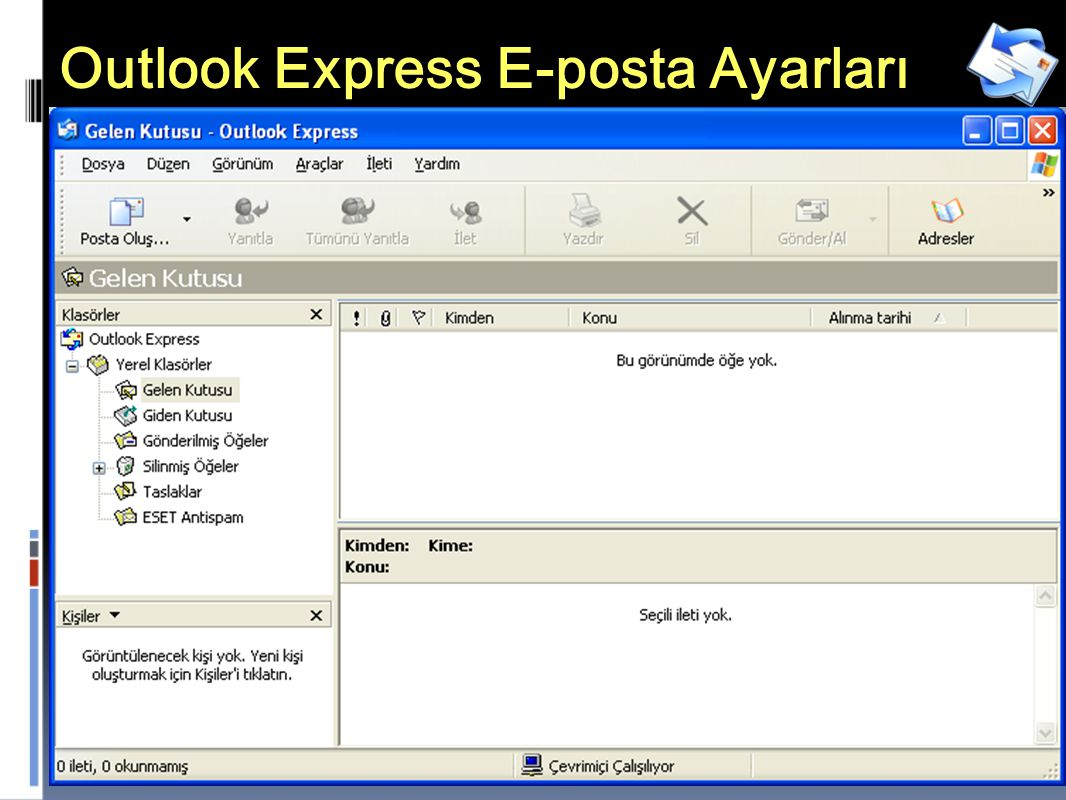 Outlook Express E-posta Ayarları