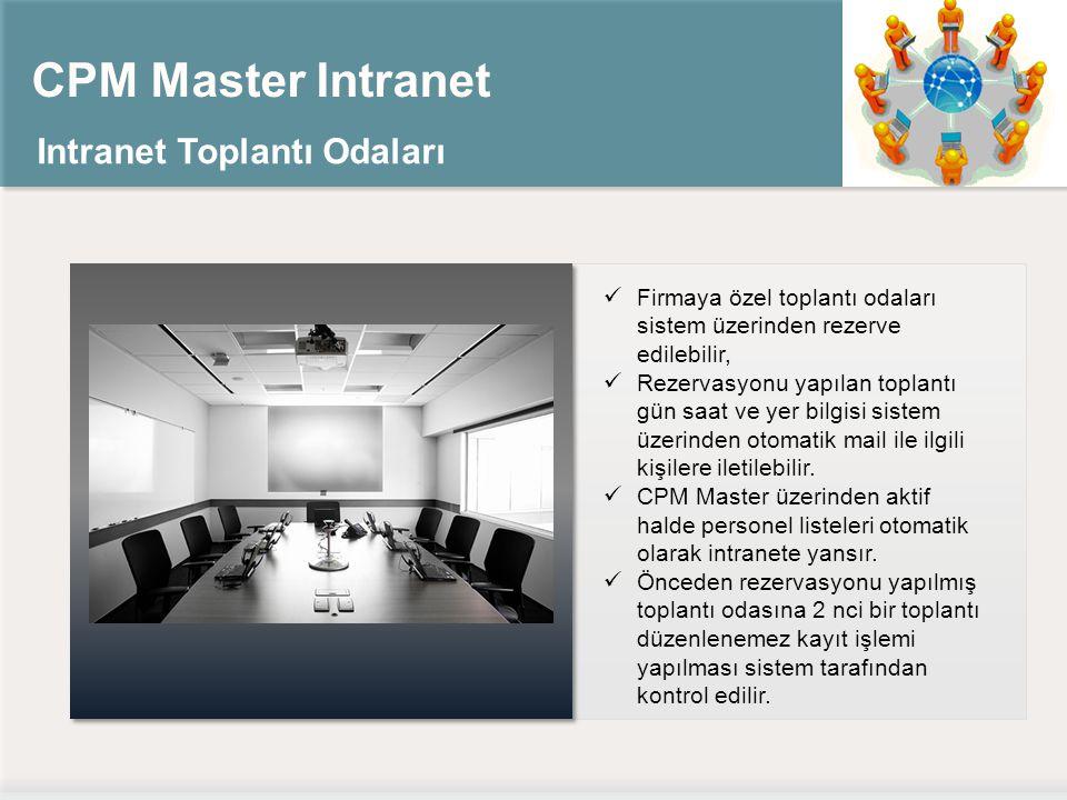 CPM Master Intranet Intranet Toplantı Odaları