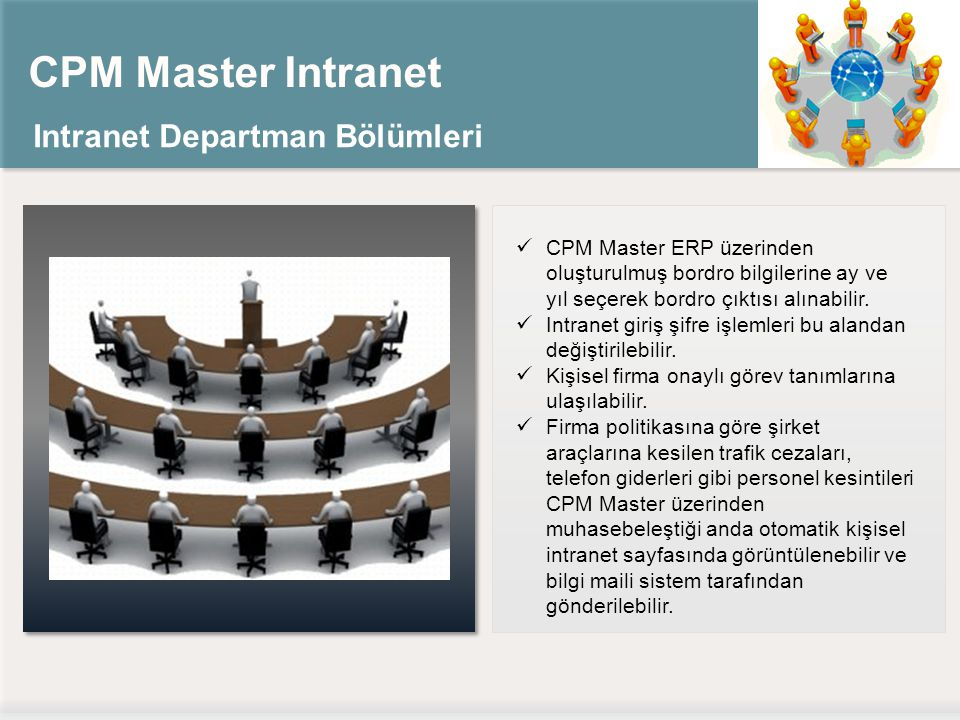 CPM Master Intranet Intranet Departman Bölümleri