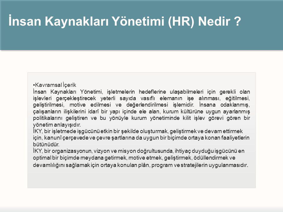 İnsan Kaynakları Yönetimi (HR) Nedir