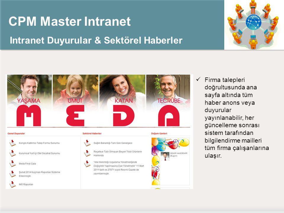 CPM Master Intranet Intranet Duyurular & Sektörel Haberler
