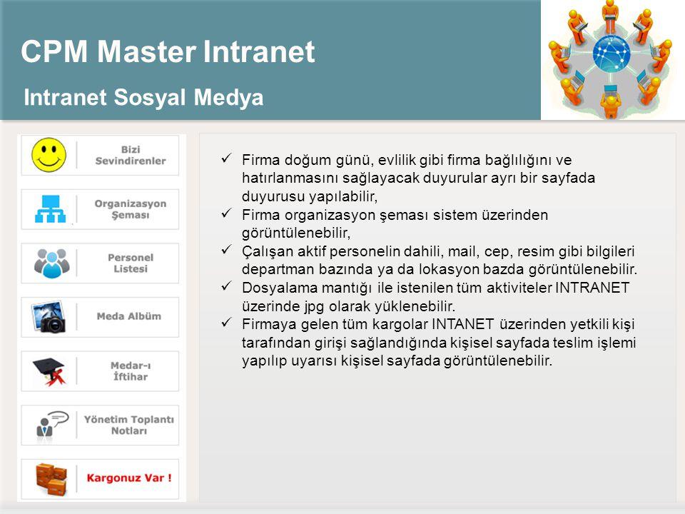 CPM Master Intranet Intranet Sosyal Medya