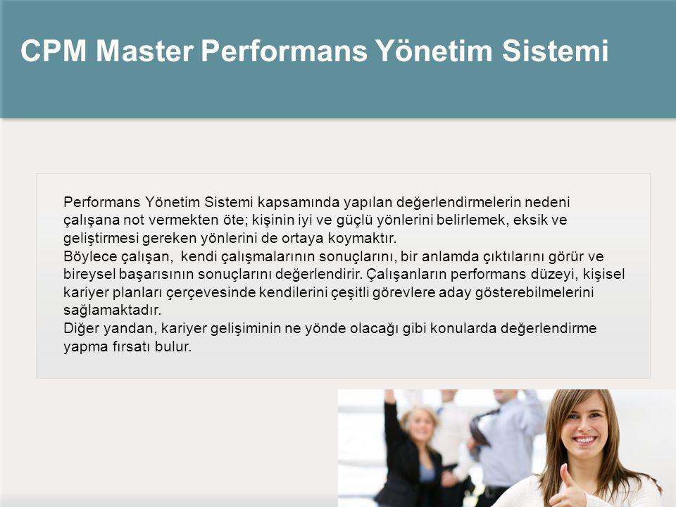 CPM Master Performans Yönetim Sistemi