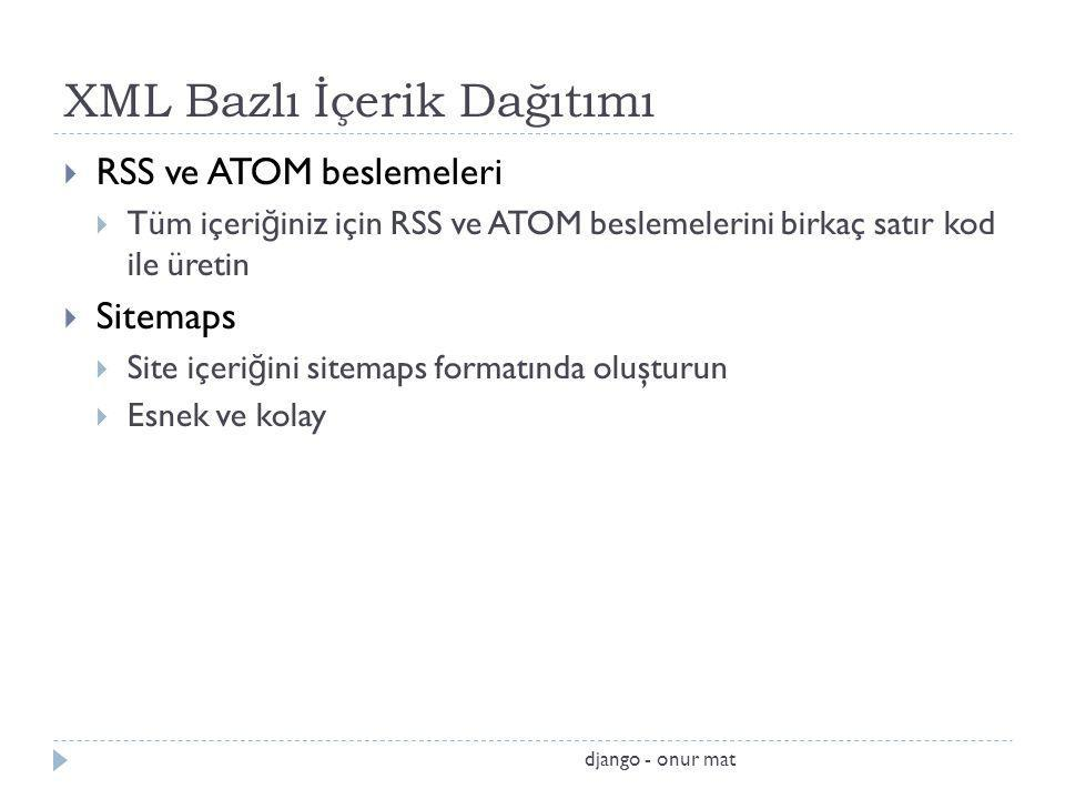 XML Bazlı İçerik Dağıtımı