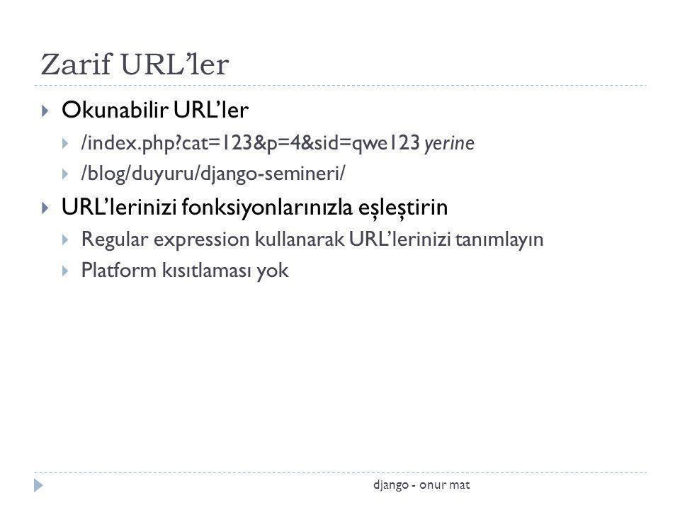 Zarif URL'ler Okunabilir URL'ler