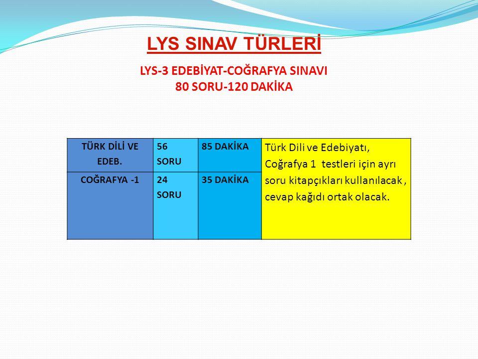 LYS-3 EDEBİYAT-COĞRAFYA SINAVI