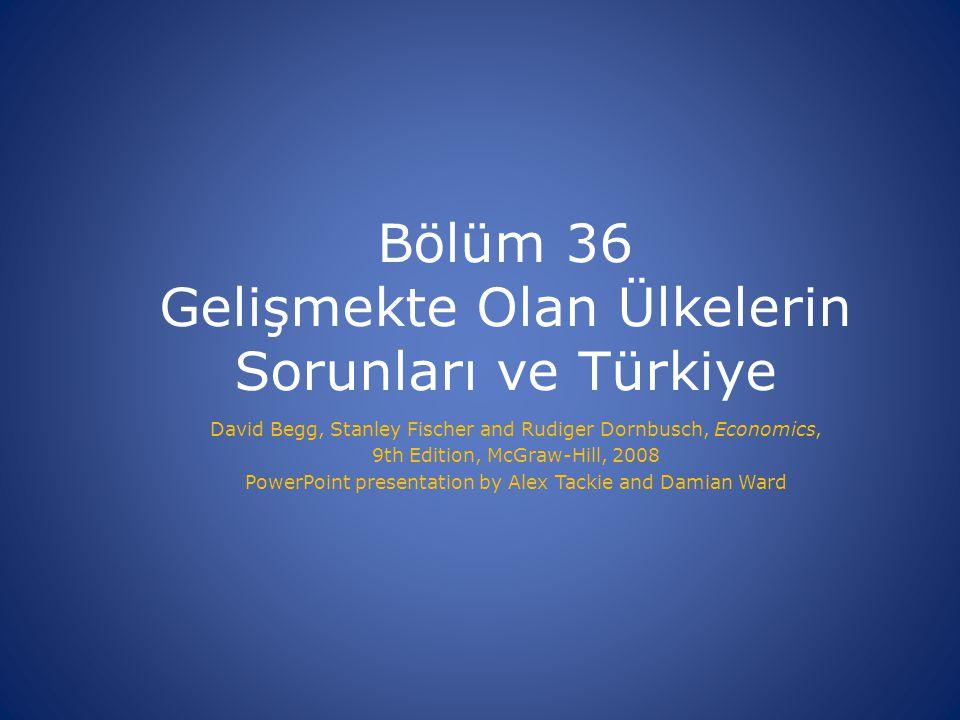 Bölüm 36 Gelişmekte Olan Ülkelerin Sorunları ve Türkiye
