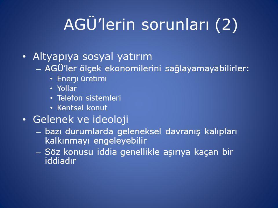 AGÜ'lerin sorunları (2)