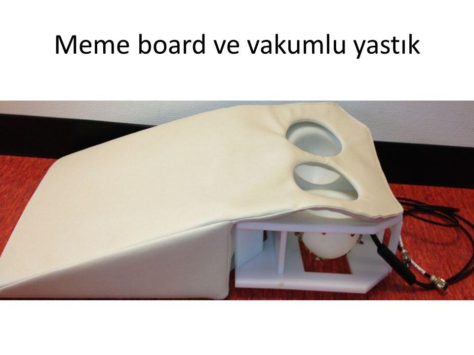 Meme board ve vakumlu yastık