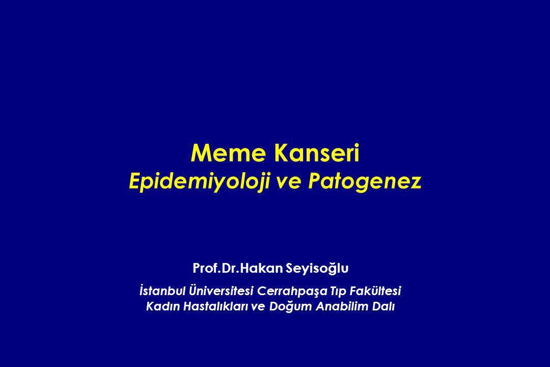 Meme Kanseri Epidemiyoloji ve Patogenez
