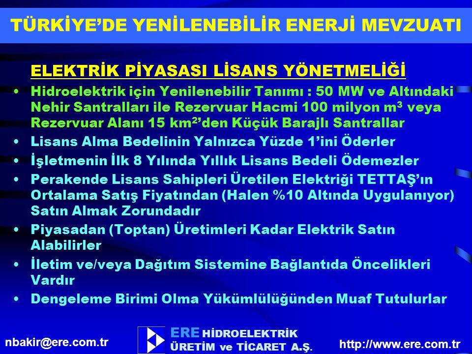 TÜRKİYE'DE YENİLENEBİLİR ENERJİ MEVZUATI
