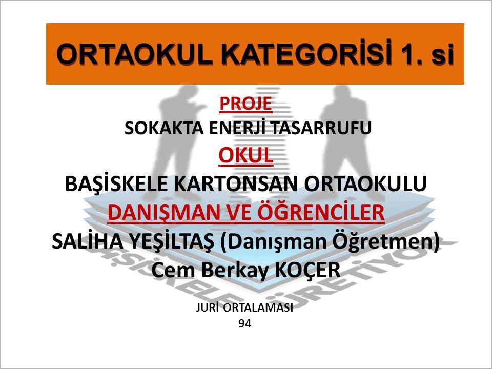 ORTAOKUL KATEGORİSİ 1. si