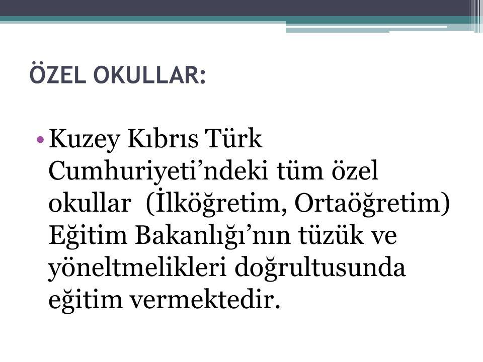 ÖZEL OKULLAR: