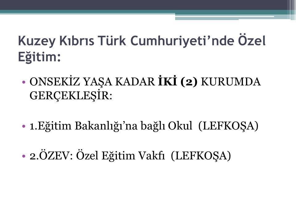 Kuzey Kıbrıs Türk Cumhuriyeti'nde Özel Eğitim: