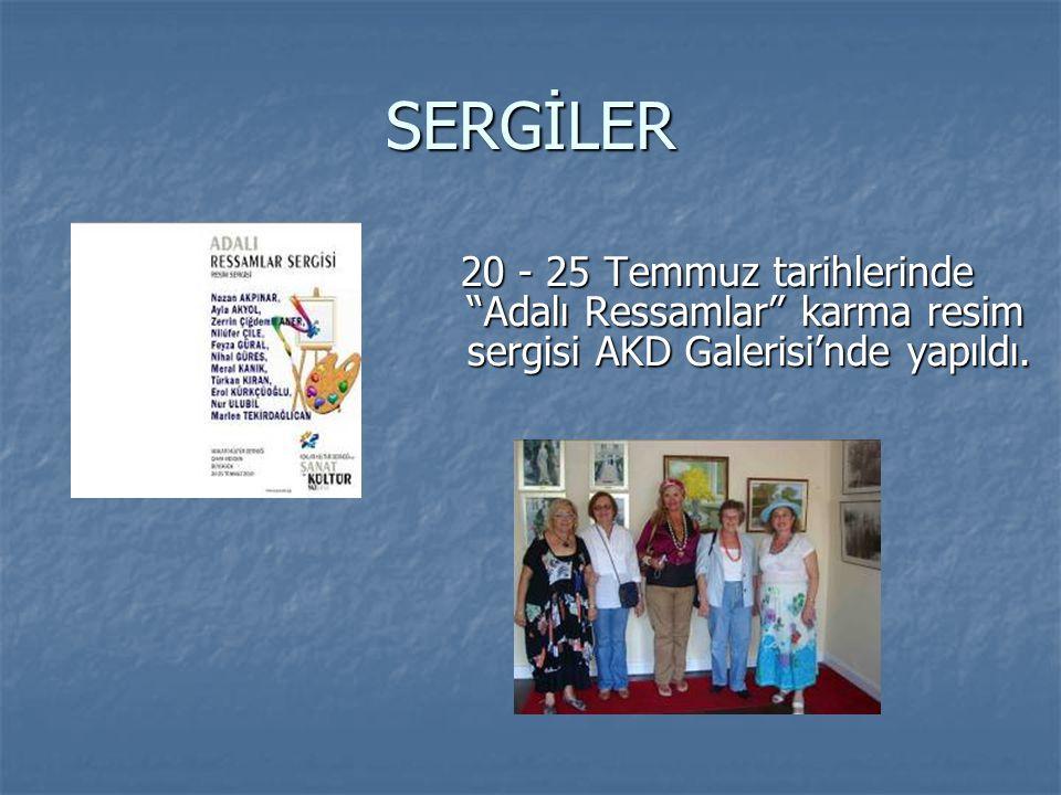 SERGİLER 20 - 25 Temmuz tarihlerinde Adalı Ressamlar karma resim sergisi AKD Galerisi'nde yapıldı.