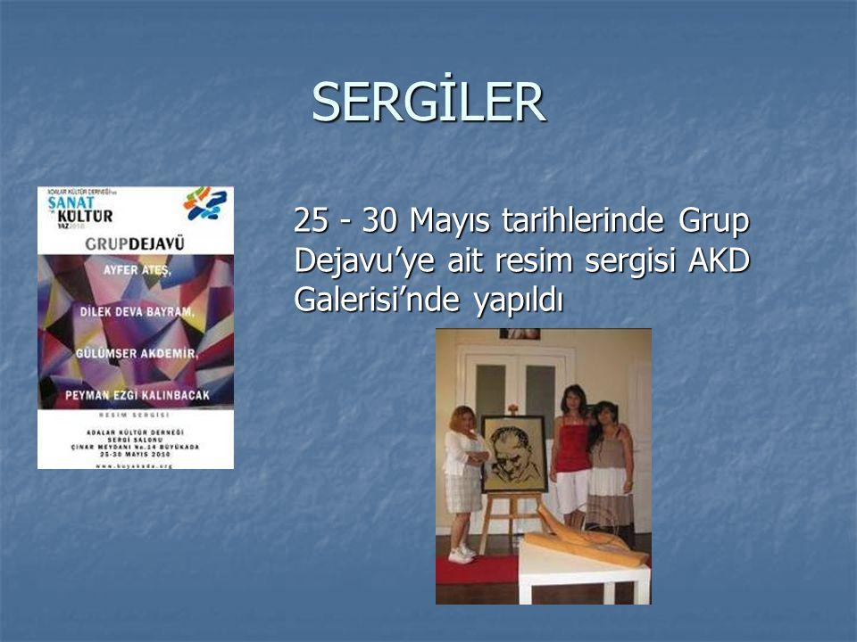 SERGİLER 25 - 30 Mayıs tarihlerinde Grup Dejavu'ye ait resim sergisi AKD Galerisi'nde yapıldı