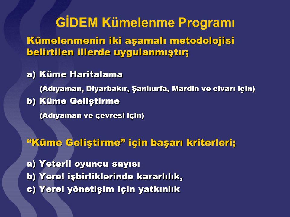 GİDEM Kümelenme Programı
