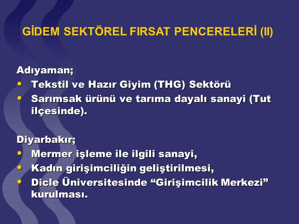 GİDEM SEKTÖREL FIRSAT PENCERELERİ (II)
