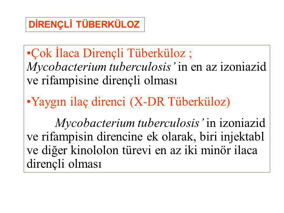 Yaygın ilaç direnci (X-DR Tüberküloz)