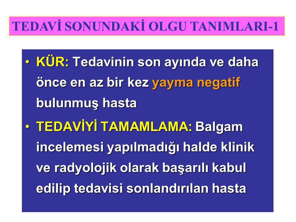 TEDAVİ SONUNDAKİ OLGU TANIMLARI-1