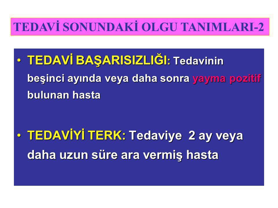 TEDAVİ SONUNDAKİ OLGU TANIMLARI-2