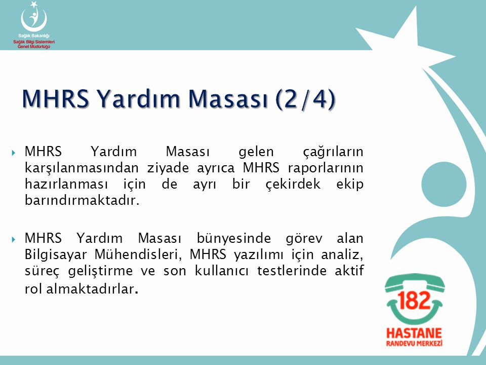MHRS Yardım Masası (2/4)