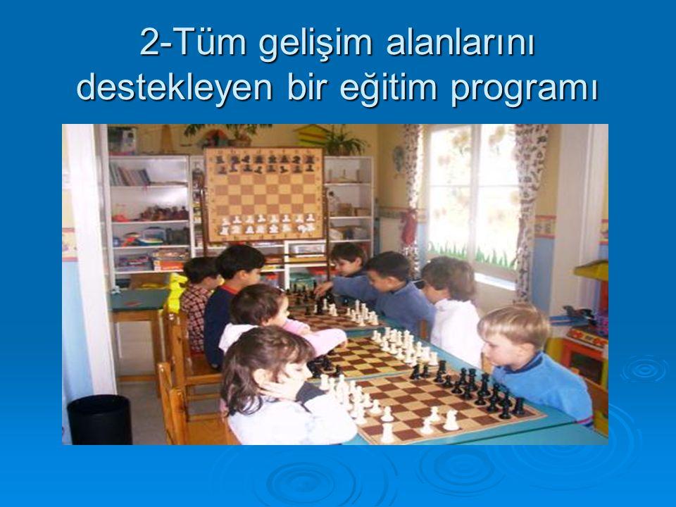 2-Tüm gelişim alanlarını destekleyen bir eğitim programı