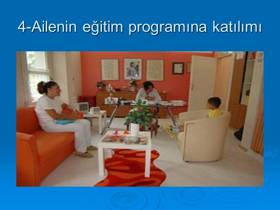 4-Ailenin eğitim programına katılımı