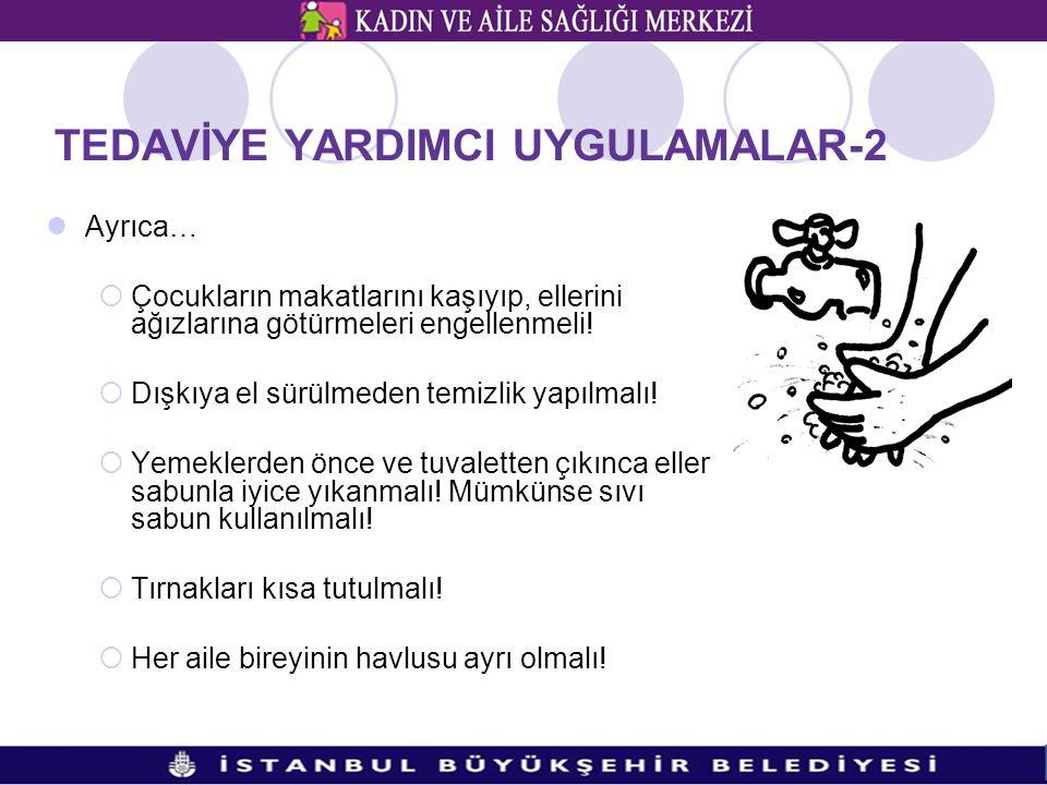 TEDAVİYE YARDIMCI UYGULAMALAR-2