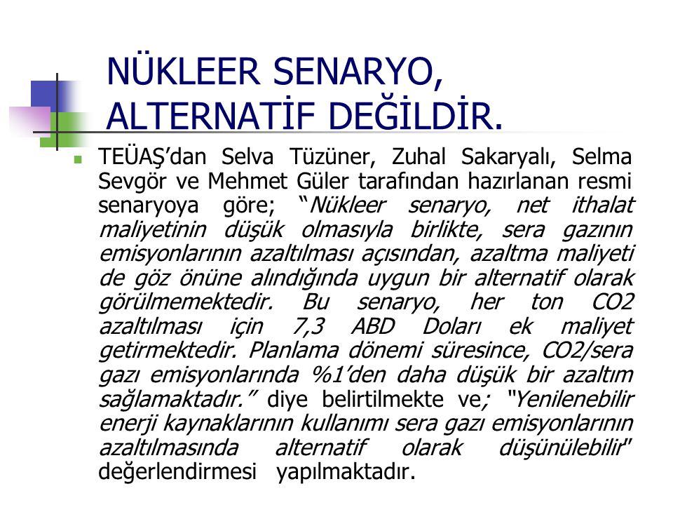 NÜKLEER SENARYO, ALTERNATİF DEĞİLDİR.