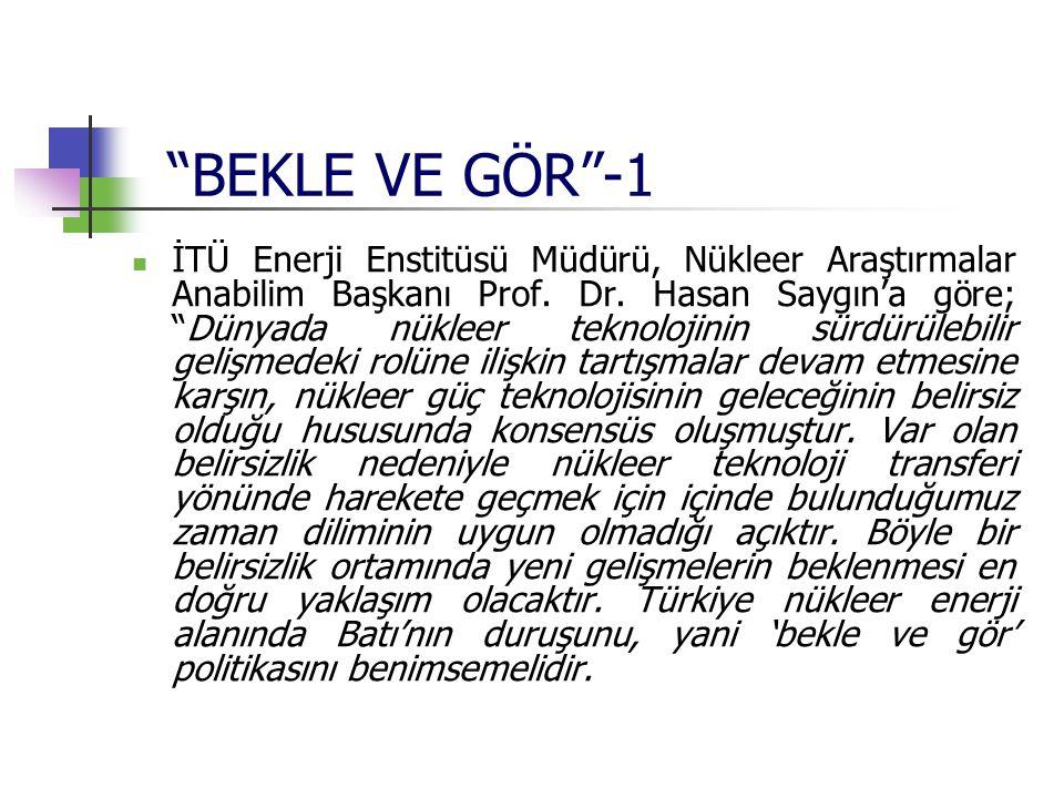 BEKLE VE GÖR -1