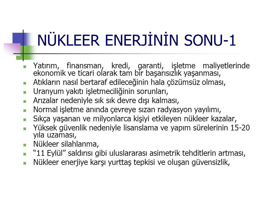 NÜKLEER ENERJİNİN SONU-1