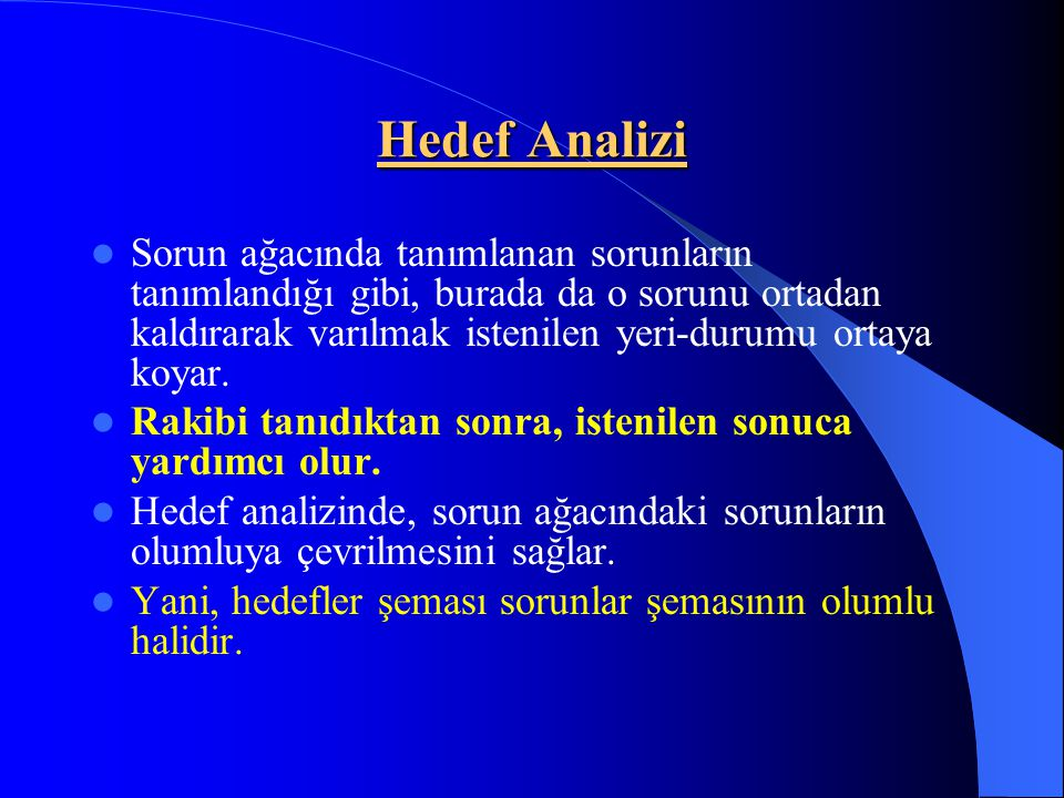 Hedef Analizi