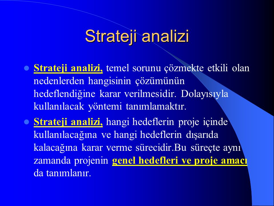 Strateji analizi