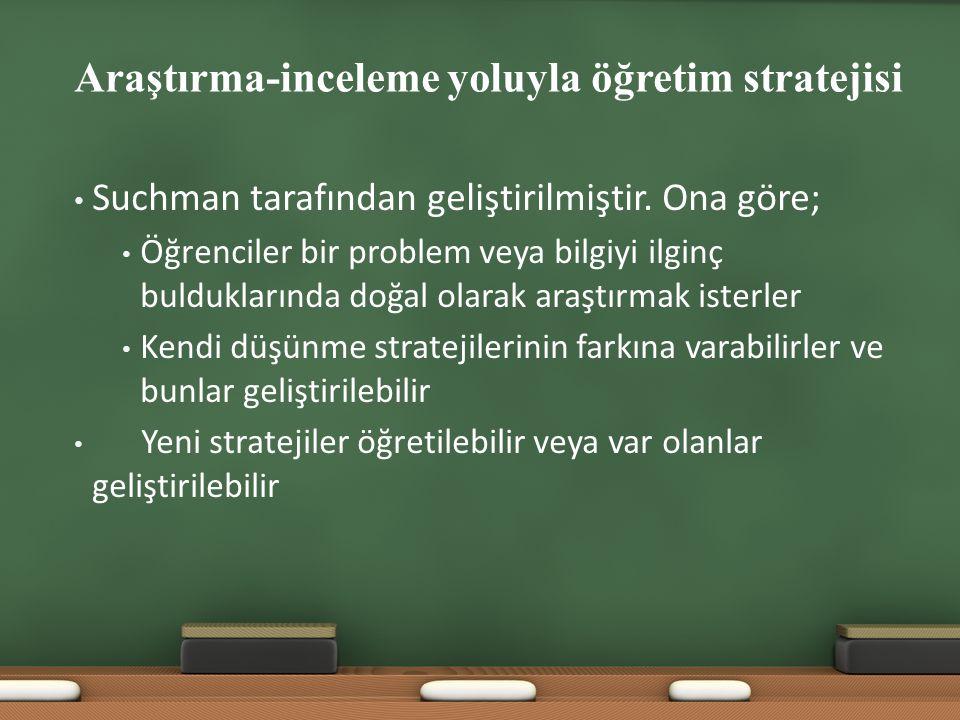 Araştırma-inceleme yoluyla öğretim stratejisi
