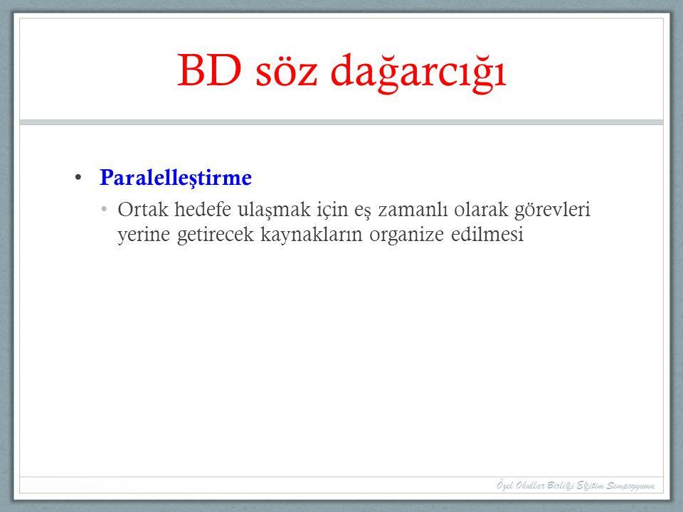 BD söz dağarcığı Paralelleştirme