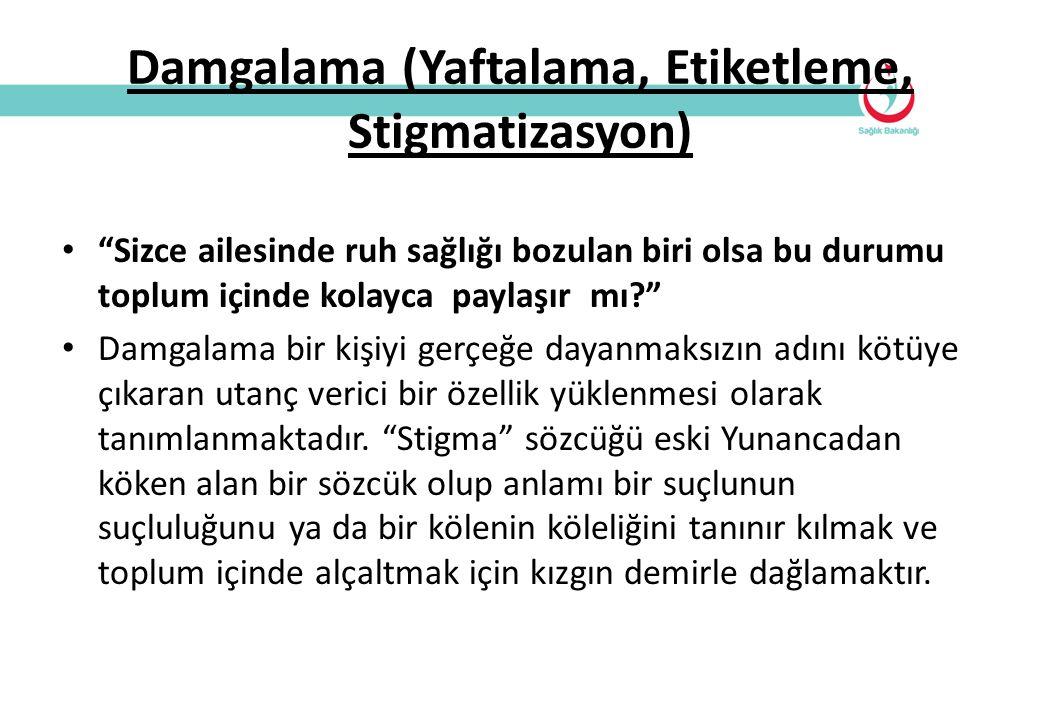 Damgalama (Yaftalama, Etiketleme, Stigmatizasyon)